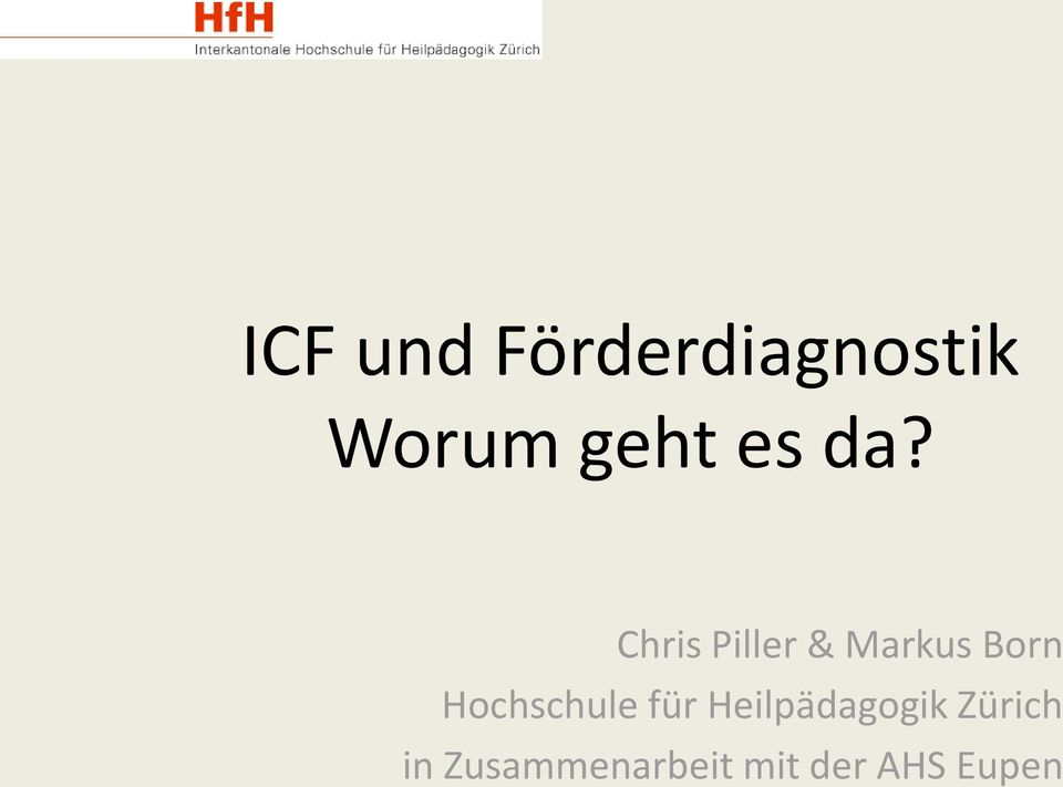 Chris Piller & Markus Born