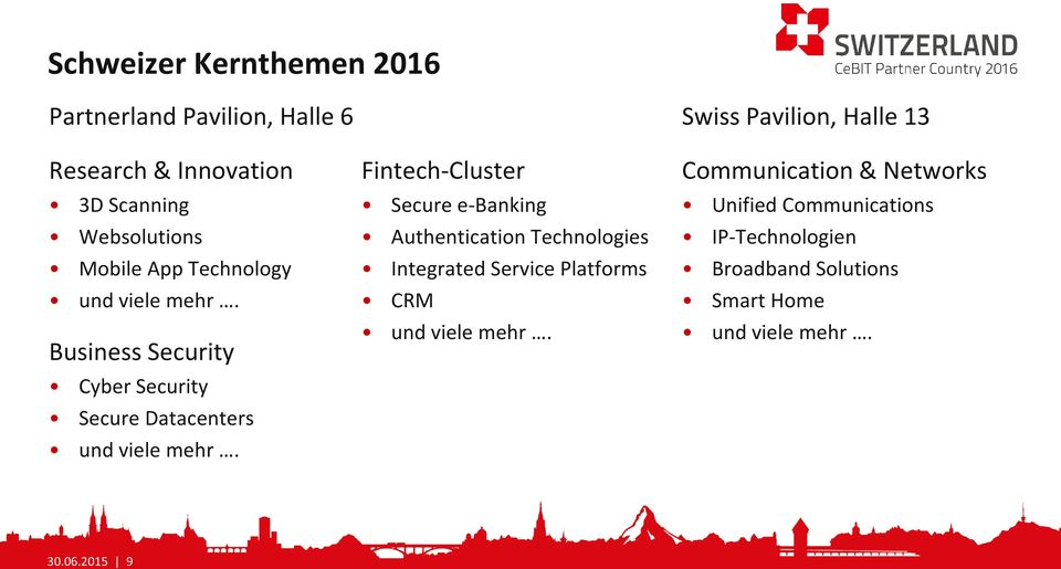 Fintech-Cluster Secure e-banking Authentication Technologies Integrated Service Platforms CRM und viele mehr.