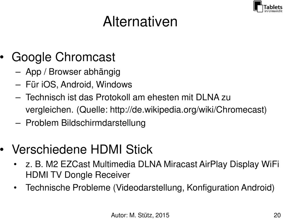 org/wiki/chromecast) Problem Bi