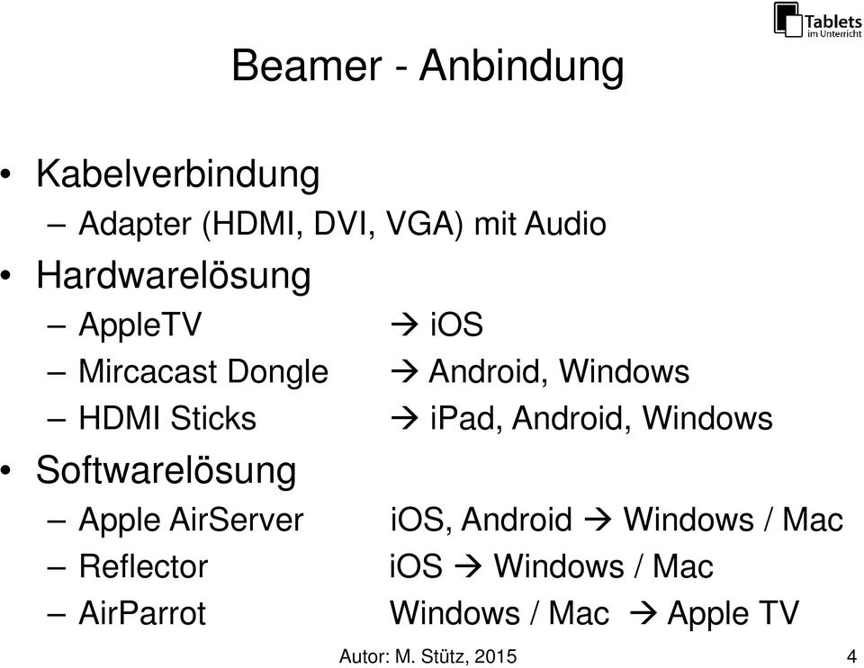 ipad, Android, Windows Softwarelösung Apple AirServer ios, Android Windows /