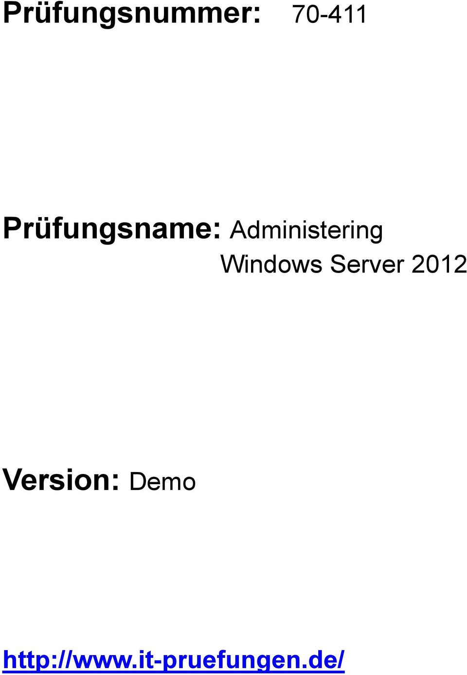 Windows Server 2012 Version: