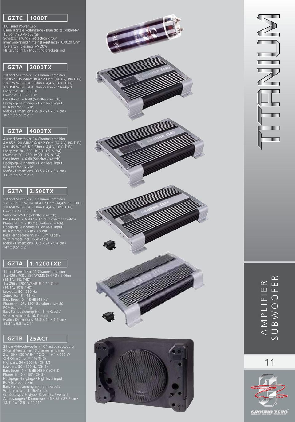 Tolerance +/- 20% Halterung inkl. / Mounting brackets incl.