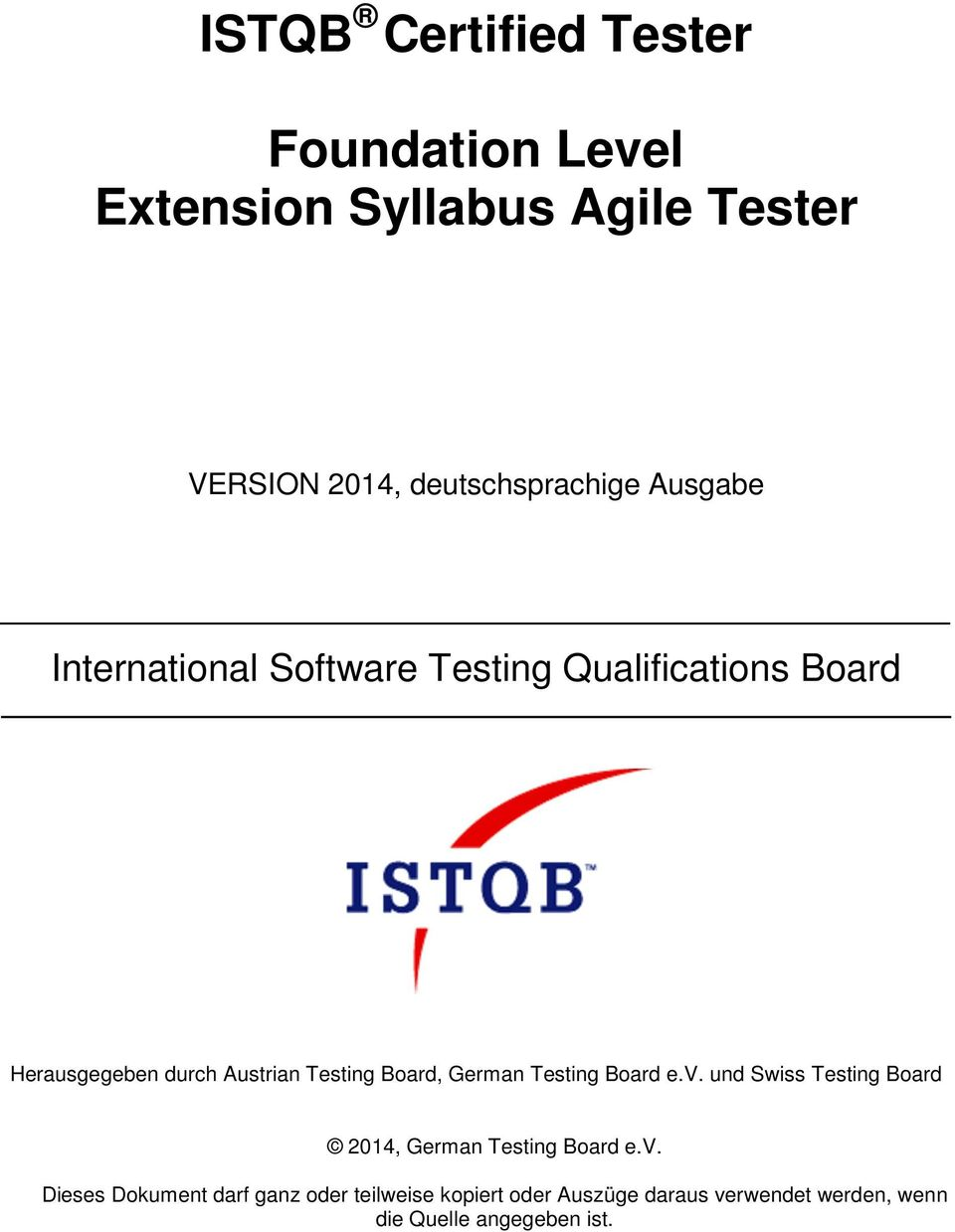 und Swiss Testing Board 2014, German Testing Board e.v.