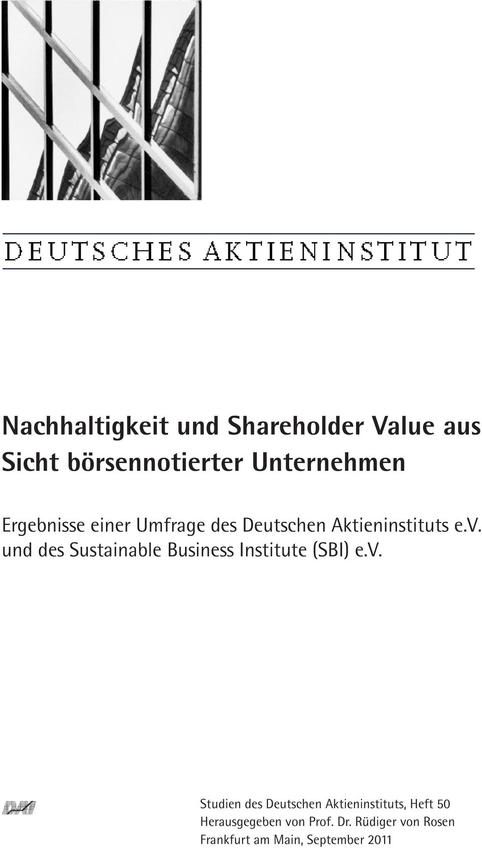 und des Sustainable Business Institute (SBI) e.v.