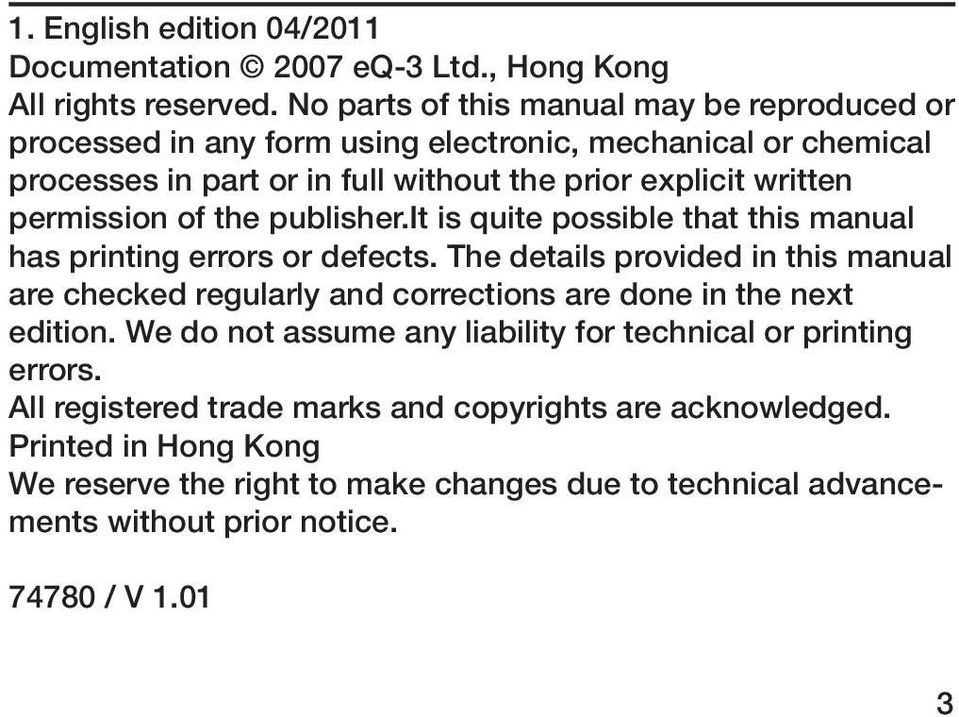 permission of the publisher.it is quite possible that this manual has printing errors or defects.