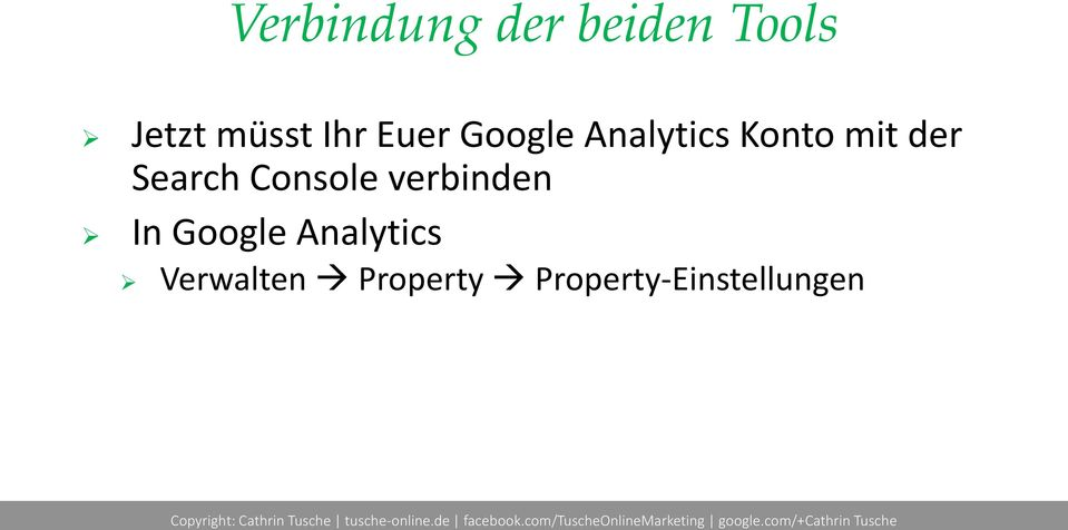 Search Console verbinden In Google