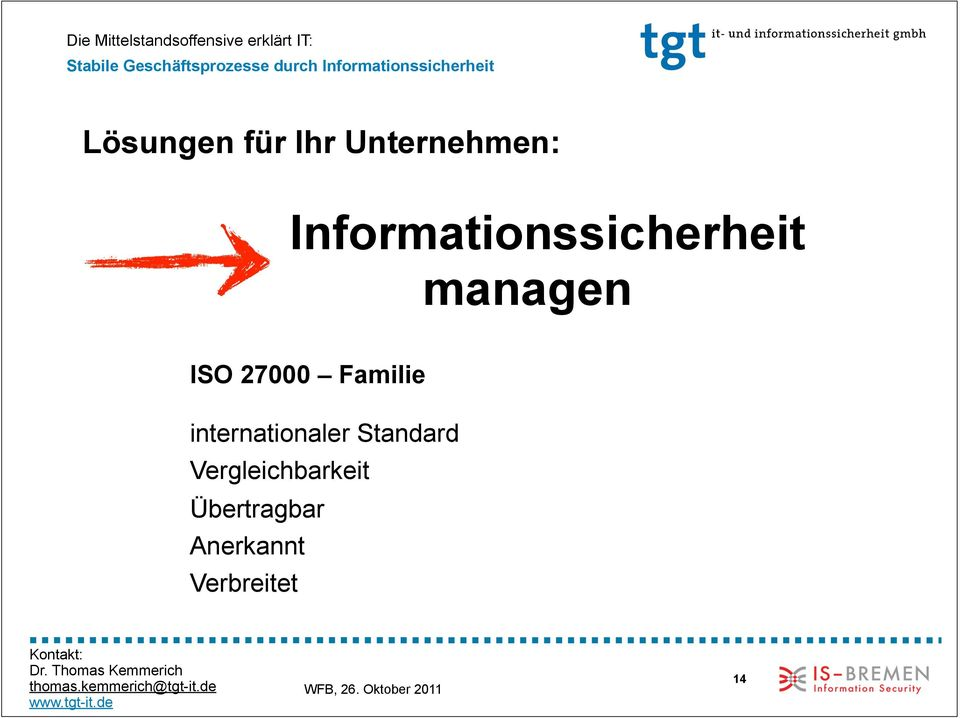 27000 Familie internationaler Standard