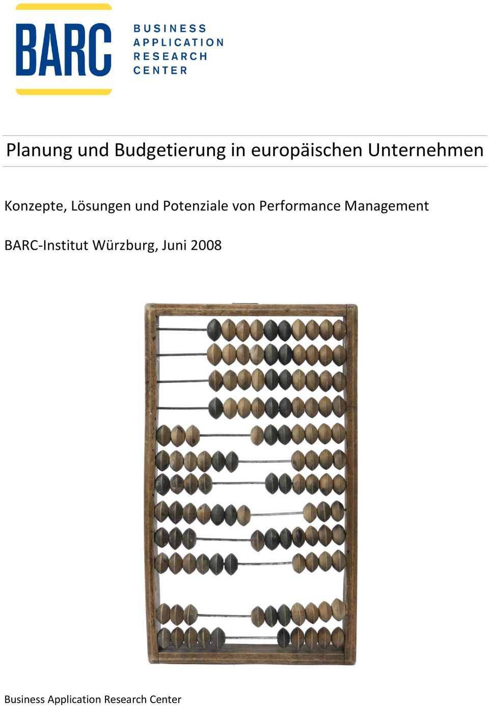 von Performance Management BARC-Institut
