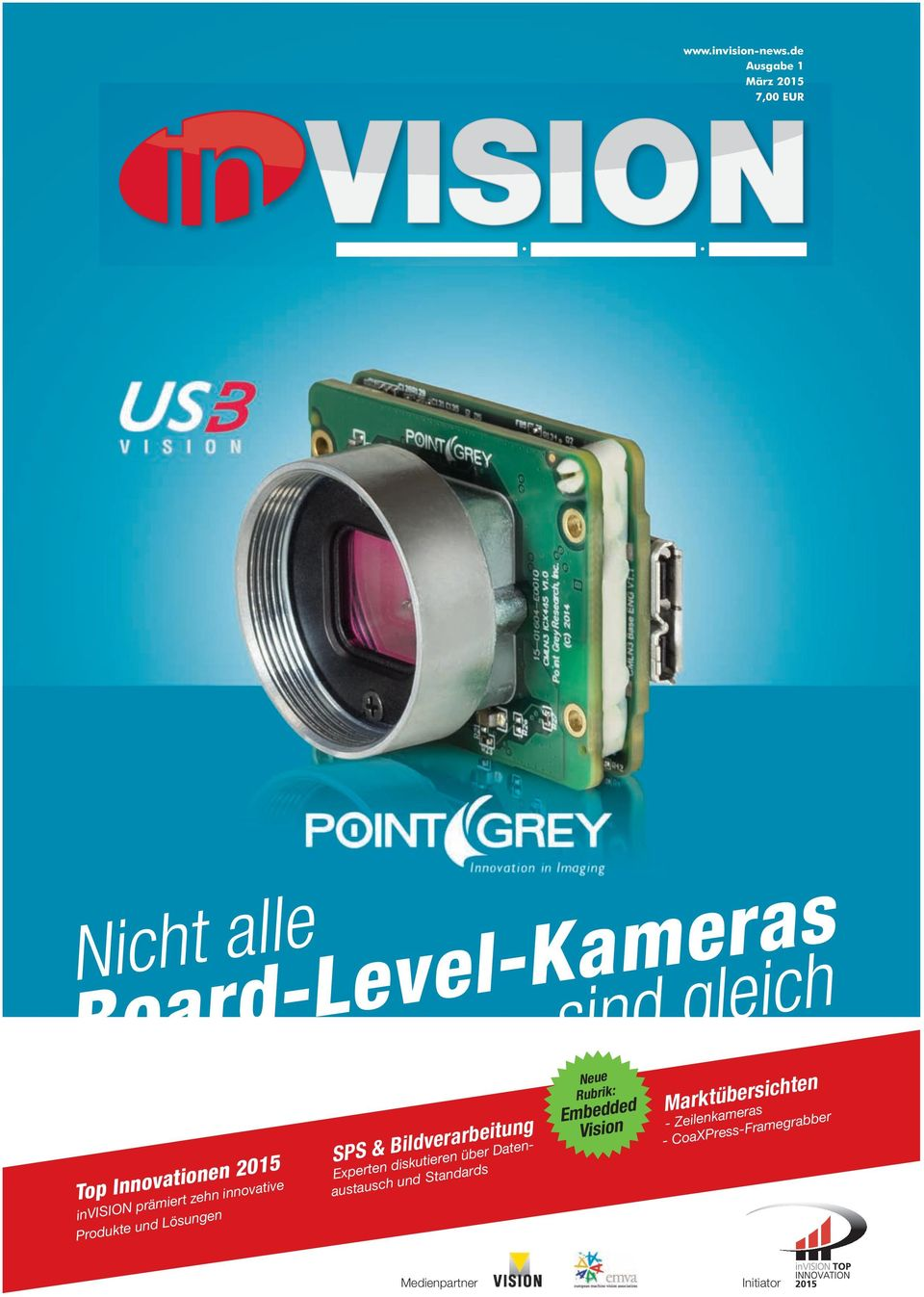 Board-Level-Kameras Top Innovationen 2015 invision prämiert zehn innovative Produkte und Lösungen