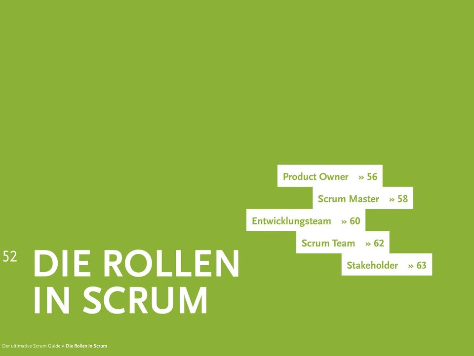 60 Scrum Team» 62 Stakeholder» 63 Der