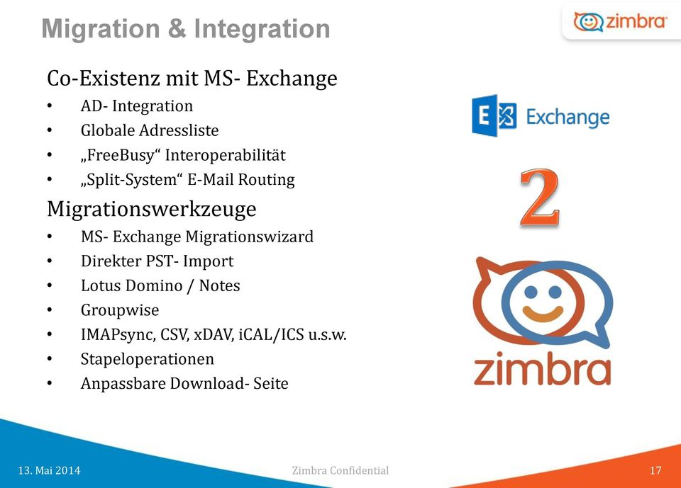 Migrationswerkzeuge MS- Exchange Migrationswizard Direkter PST- Import Lotus