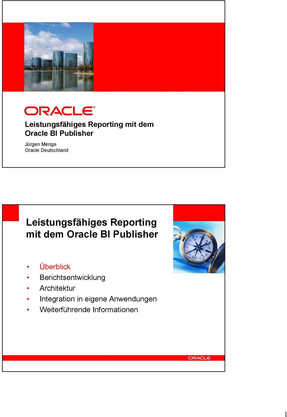 dem Oracle BI Publisher <Insert Picture Here> Überblick