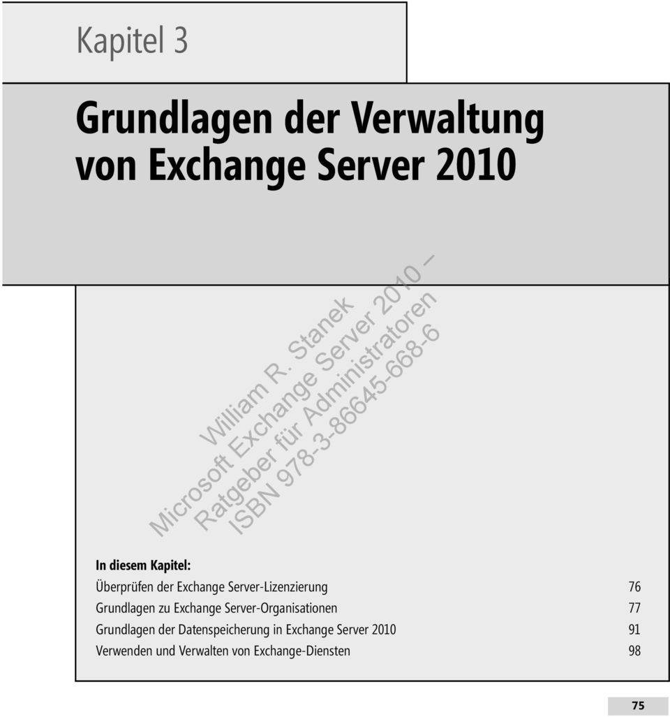 Exchange Server-Organisationen 77 Grundlagen der Datenspeicherung in