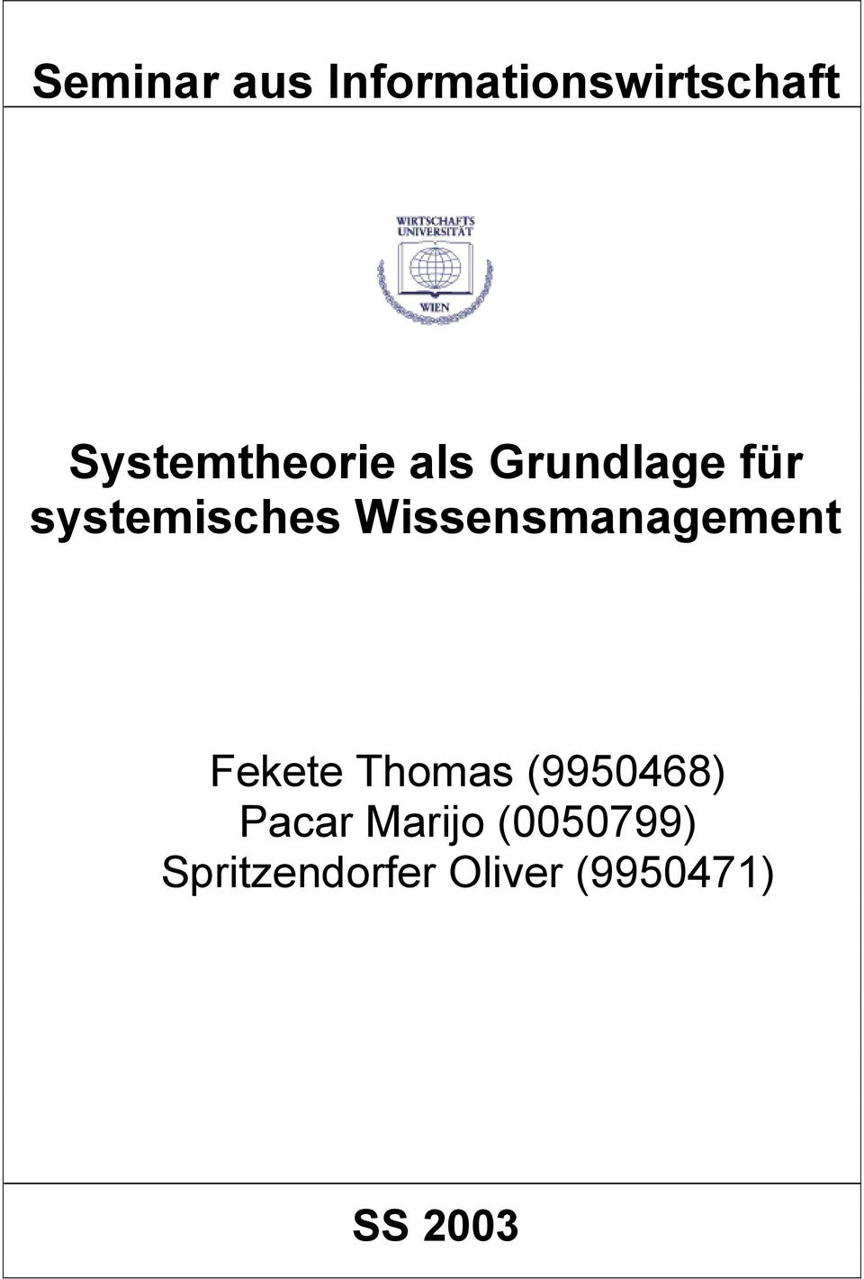 Wissensmanagement Fekete Thomas (9950468)