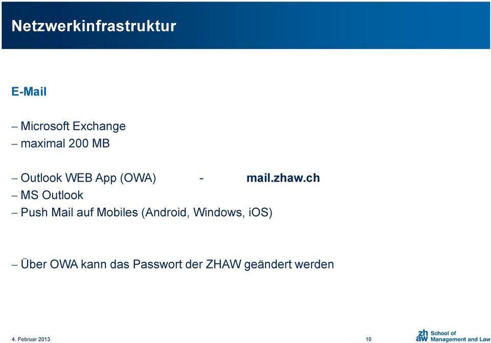 ch MS Outlook Push Mail auf Mobiles (Android, Windows,