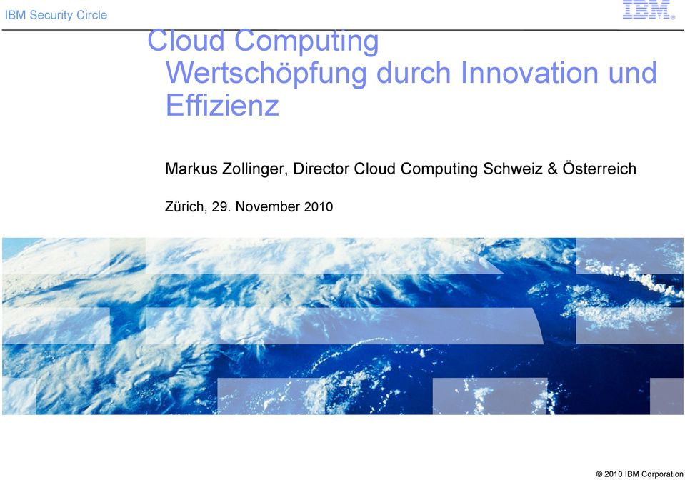 Effizienz Markus Zollinger, Director Cloud