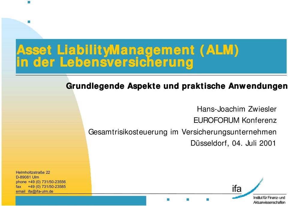 assets and liabilities management project pdf