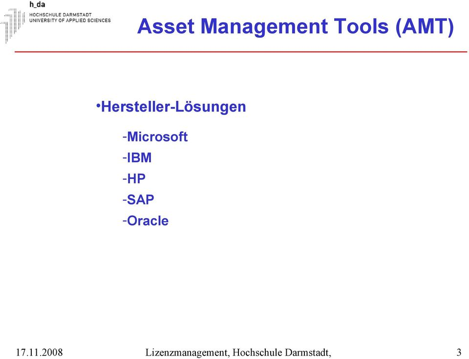 -HP -SAP -Oracle Lizenzmanagement,