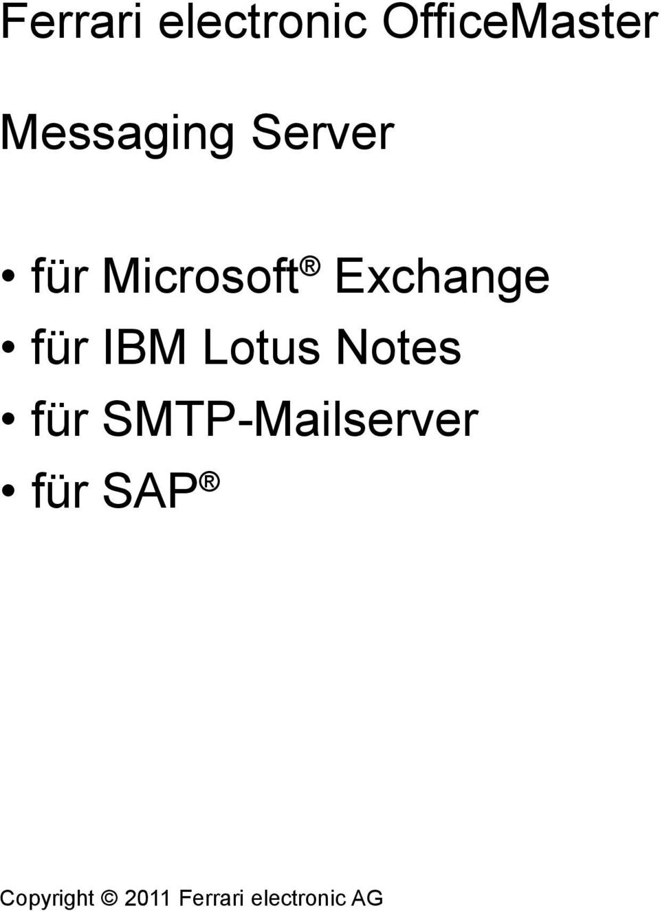 Exchange für IBM Lotus Notes für