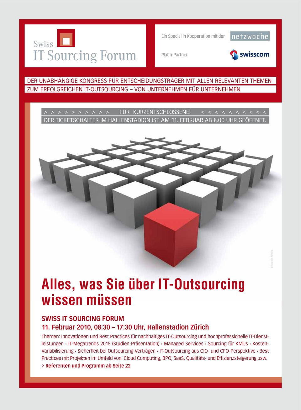 Bildquelle: Fotolia Alles, was Sie über IT-Outsourcing wissen müssen swiss It sourcing forum 11.