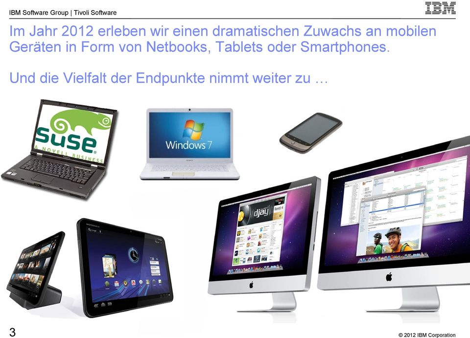 in Form von Netbooks, Tablets oder