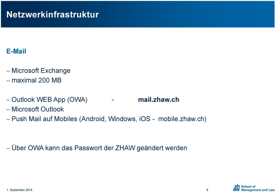 ch Microsoft Outlook Push Mail auf Mobiles (Android, Windows,