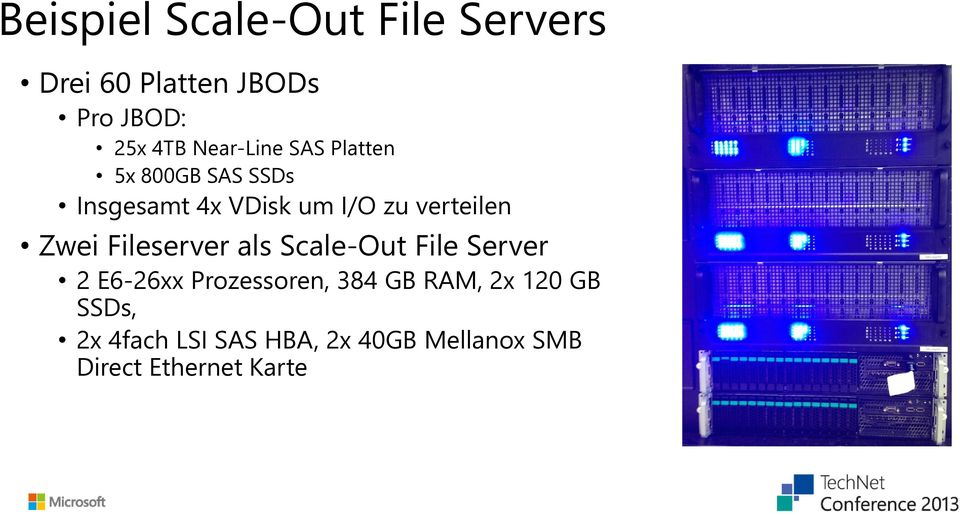verteilen Zwei Fileserver als Scale-Out File Server 2 E6-26xx Prozessoren,
