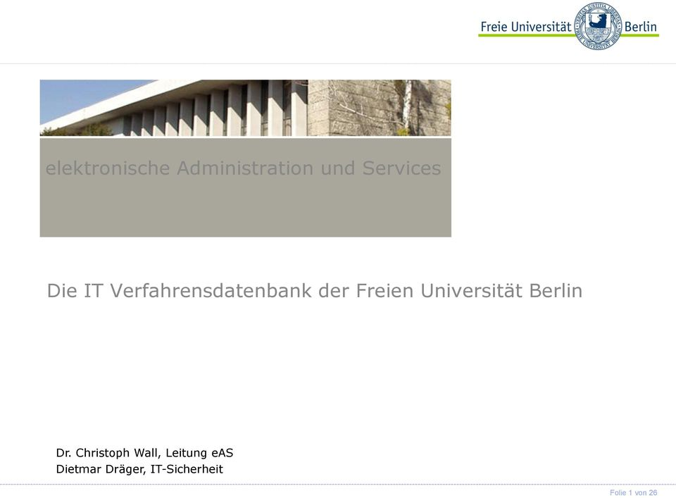 Universität Berlin Dr.