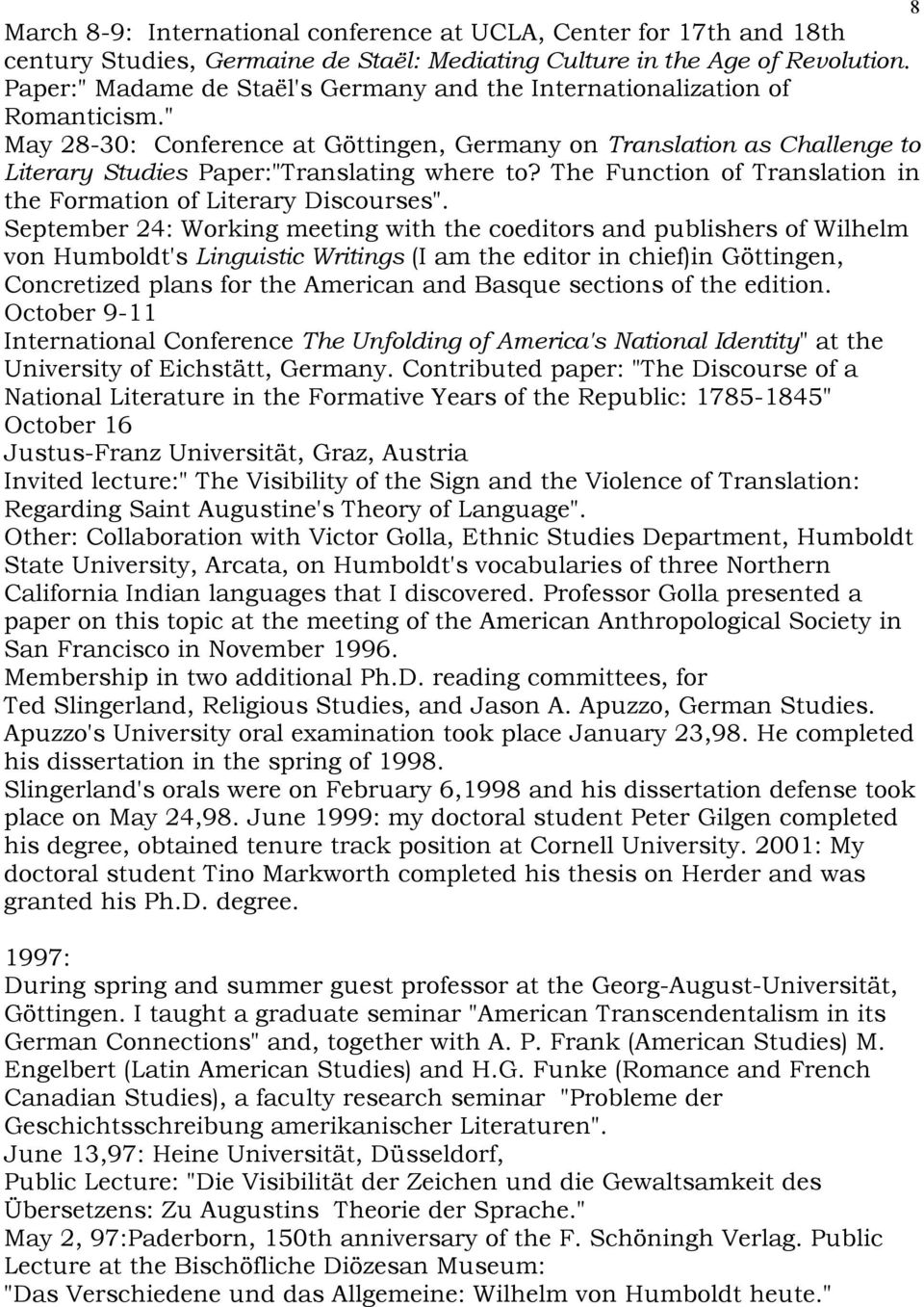 "The Function of Translation in the Formation of Literary Discourses""."