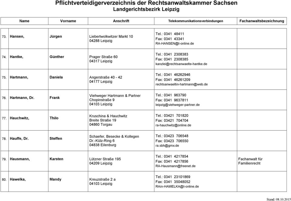 pflichtverteidigerverzeichnis der rechtsanwaltskammer sachsen landgerichtsbezirk leipzig pdf. Black Bedroom Furniture Sets. Home Design Ideas