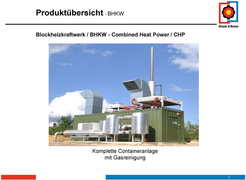 Combined Heat Power / CHP