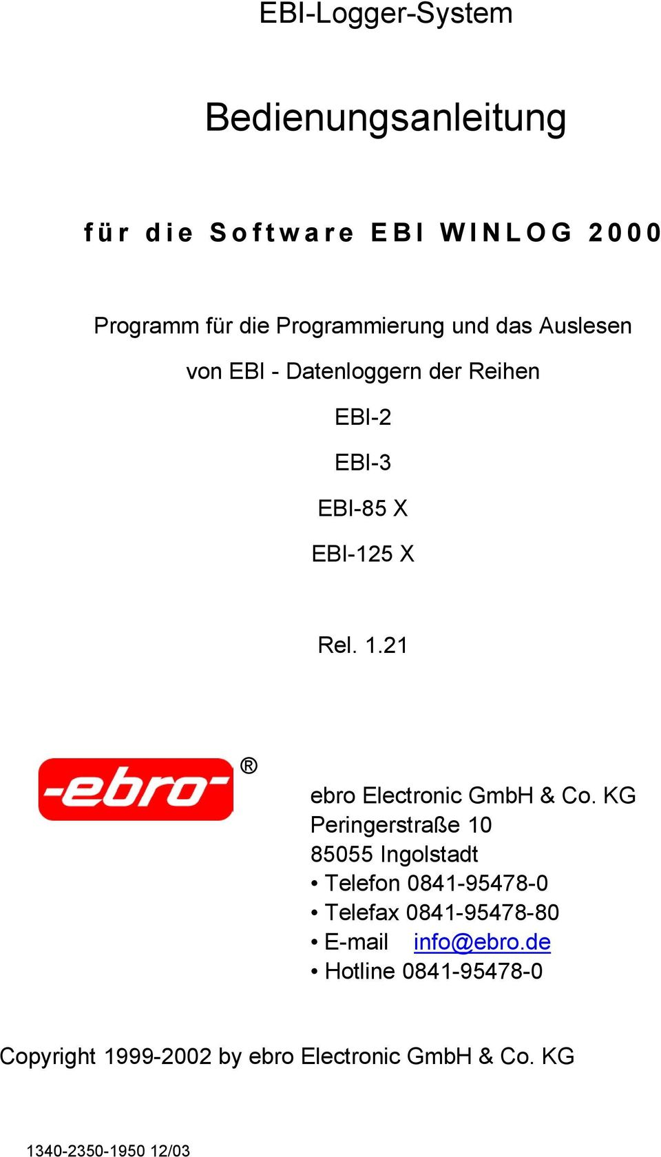 21 ebro Electronic GmbH & Co.