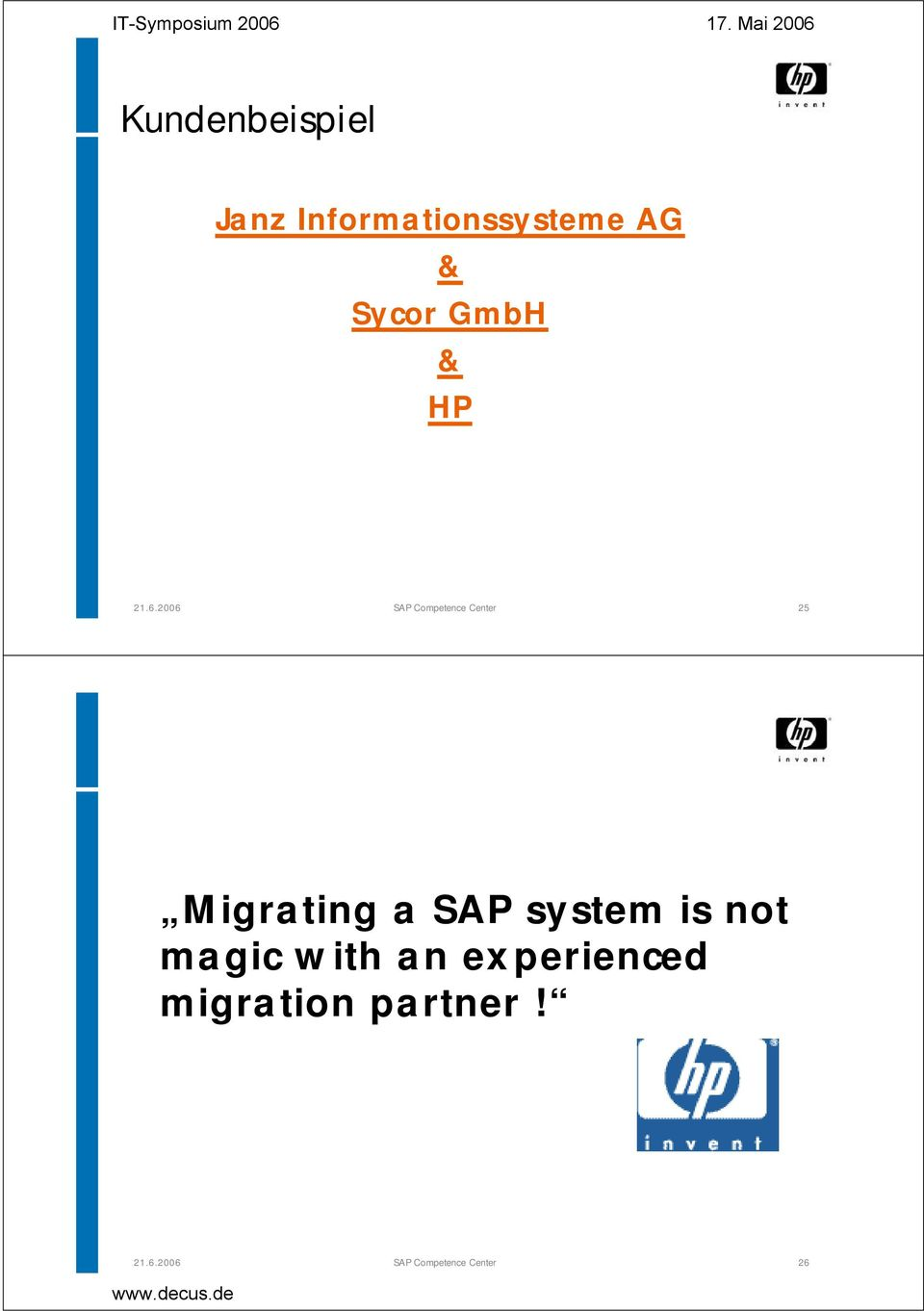 Migrating a SAP system is not magic with an