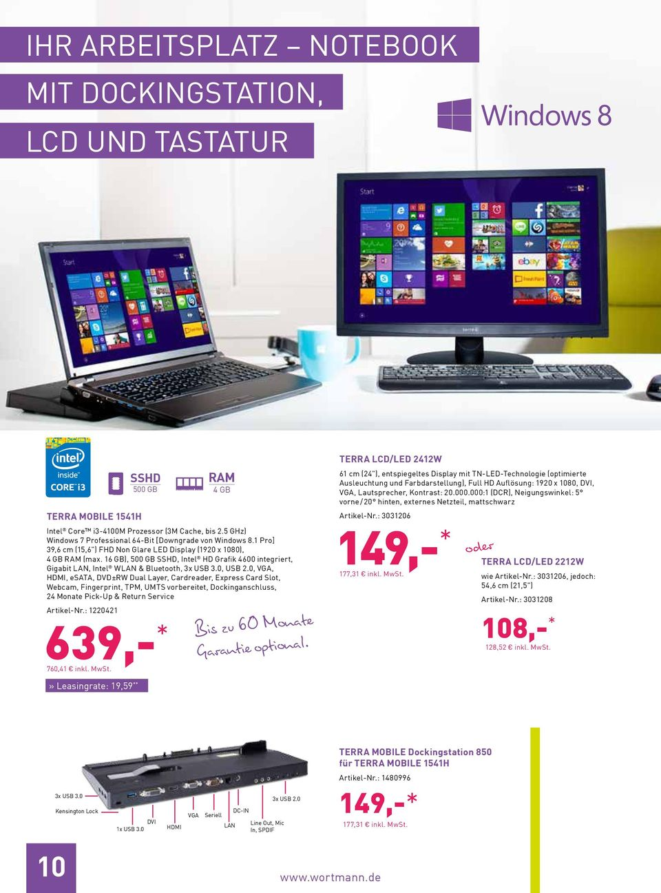 16 GB), 500 GB SSHD, Intel HD Grafik 4600 integriert, Gigabit LAN, Intel WLAN & Bluetooth, 3x USB 3.0, USB 2.