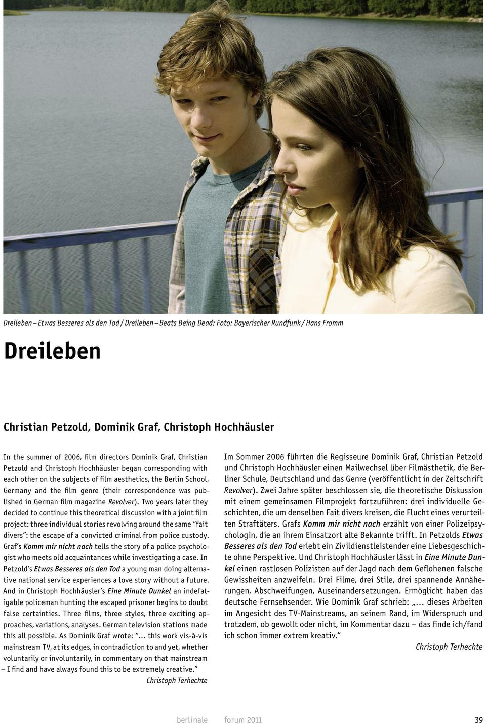 published in German film magazine Revolver).