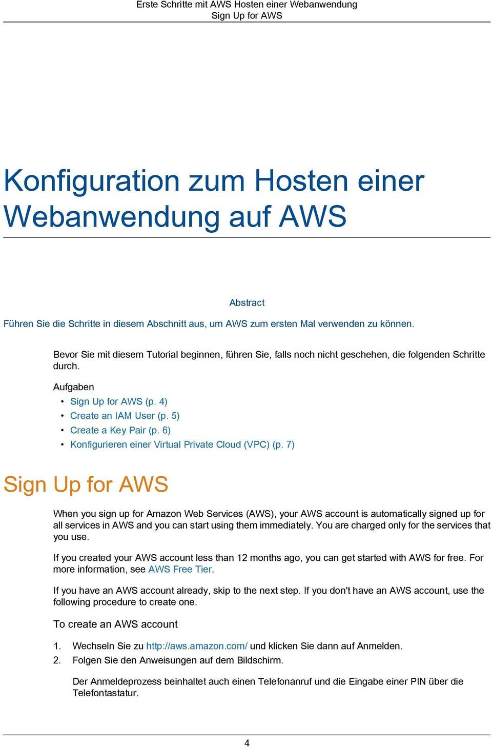 6) Konfigurieren einer Virtual Private Cloud (VPC) (p.