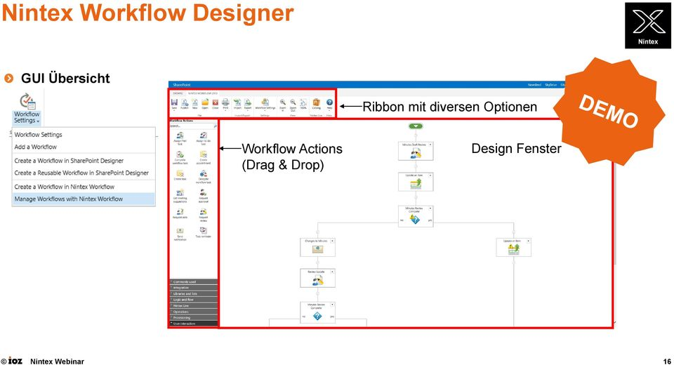 diversen Optionen Workflow