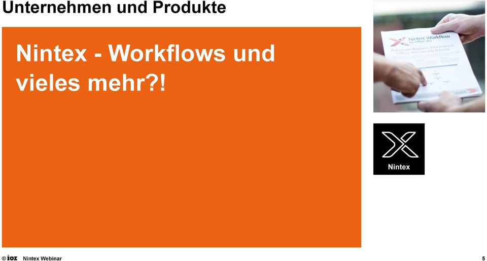 - Workflows und
