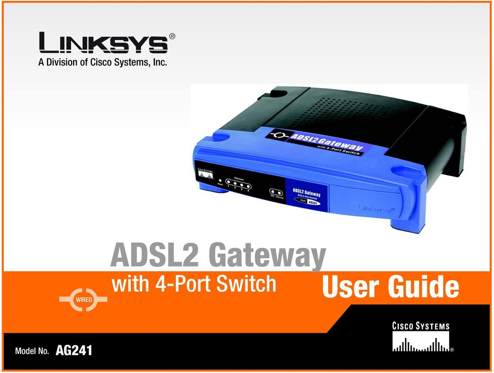 WIRED ADSL2 Gateway with
