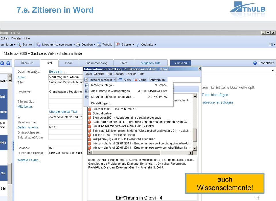 Zitieren in Word