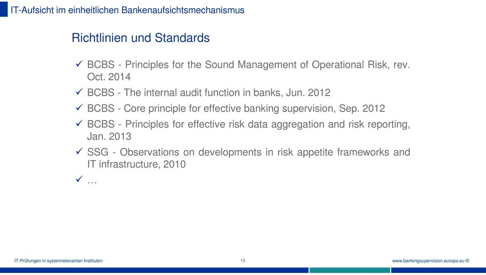 2012 BCBS - Core principle for effective banking supervision, Sep.