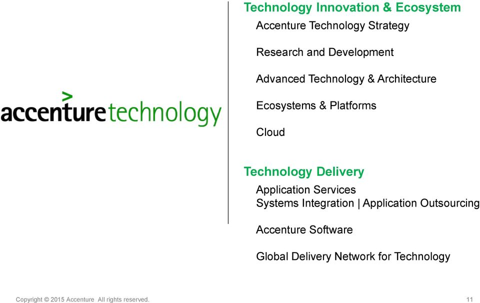 Technology Delivery Application Services Systems Integration Application Outsourcing
