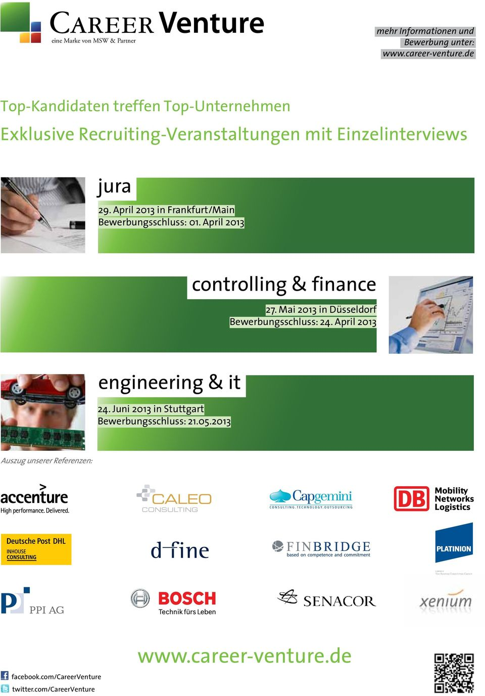 April 2013 in Frankfurt/Main Bewerbungsschluss: 01. April 2013 controlling & finance 27.
