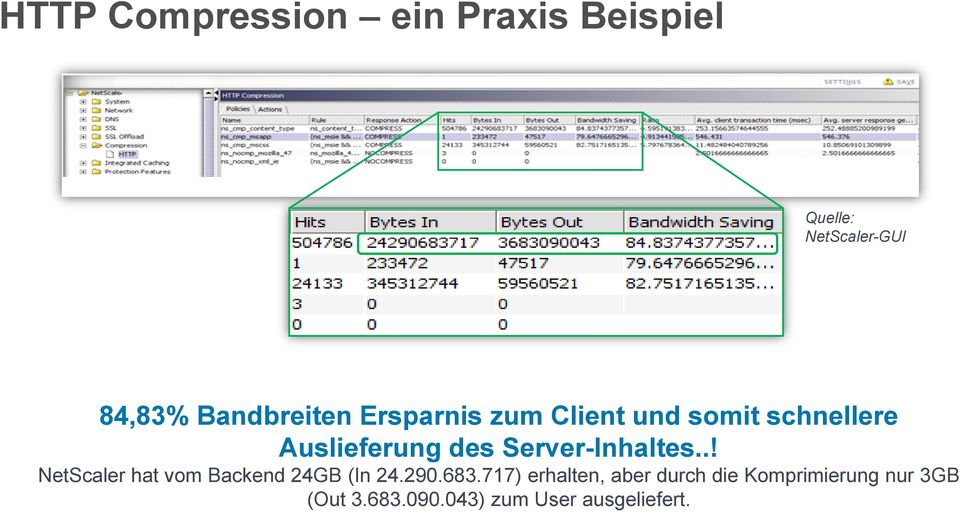 Server-Inhaltes..! NetScaler hat vom Backend 24GB (In 24.290.683.