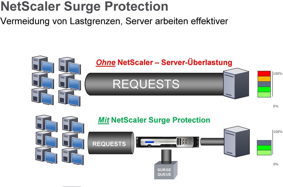 NetScaler Server-Überlastung REQUESTS 100% 0%