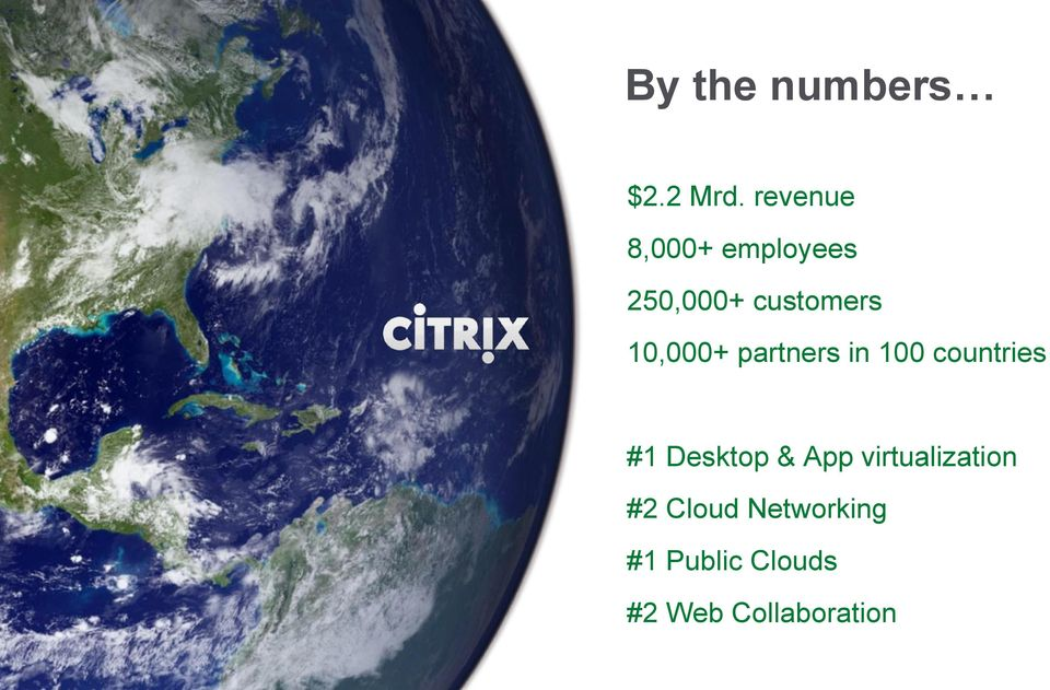 10,000+ partners in 100 countries #1 Desktop &