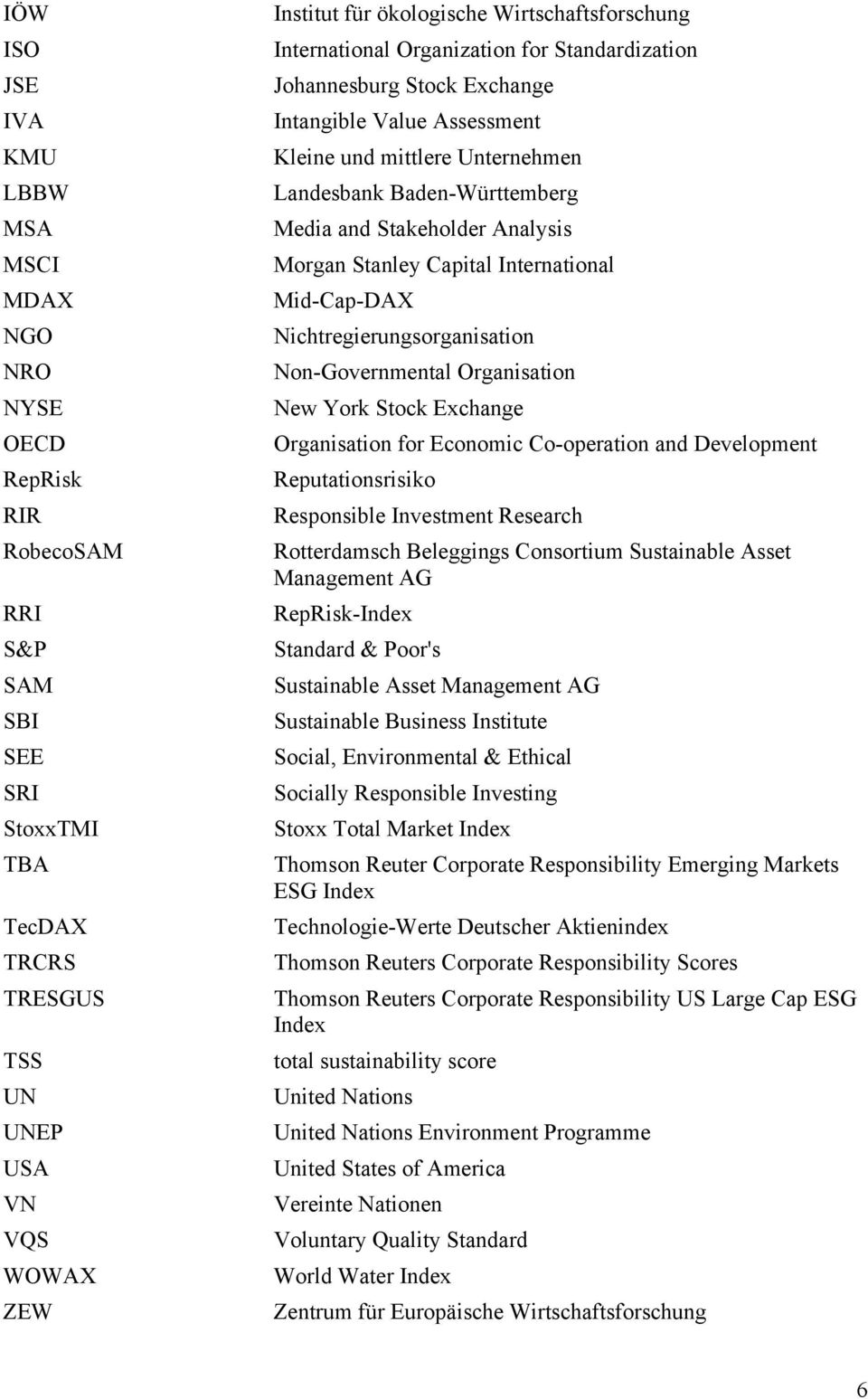 Stakeholder Analysis Morgan Stanley Capital International Mid-Cap-DAX Nichtregierungsorganisation Non-Governmental Organisation New York Stock Exchange Organisation for Economic Co-operation and
