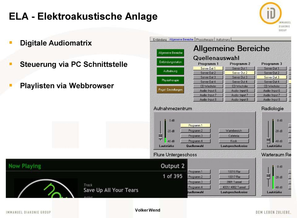 Audiomatrix Steuerung via