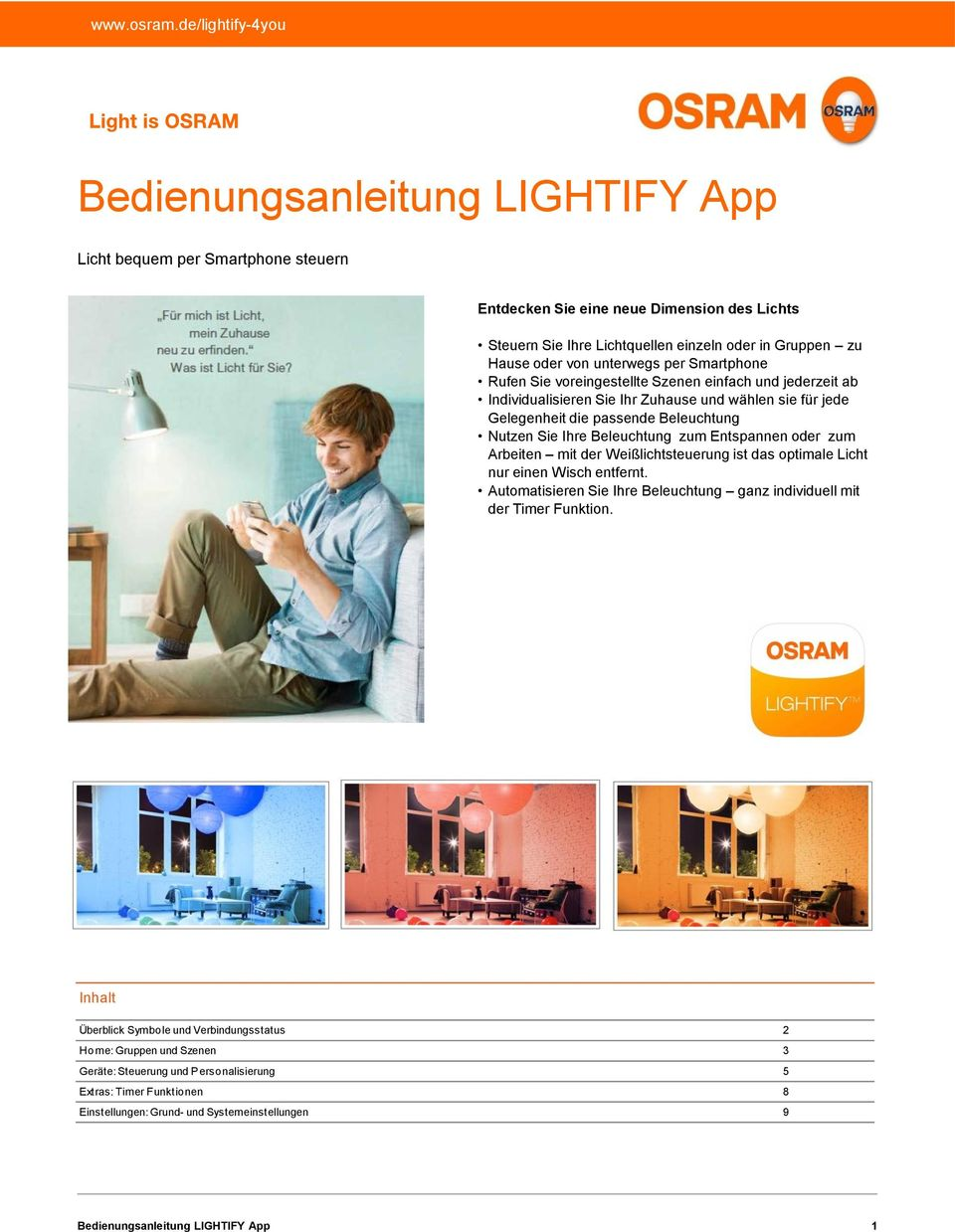sicherheit osram lightify