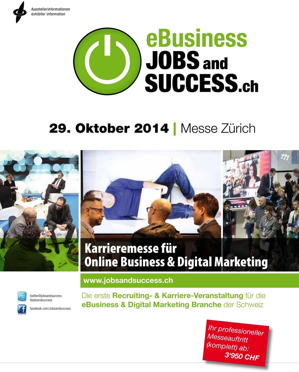 jobsandsuccess.ch twitter@jobsandsuccess #jobsandsuccess facebook.
